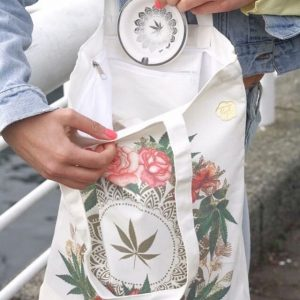 tote bag in use