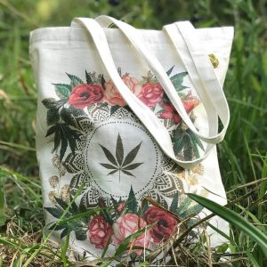 pot leave and rose tote